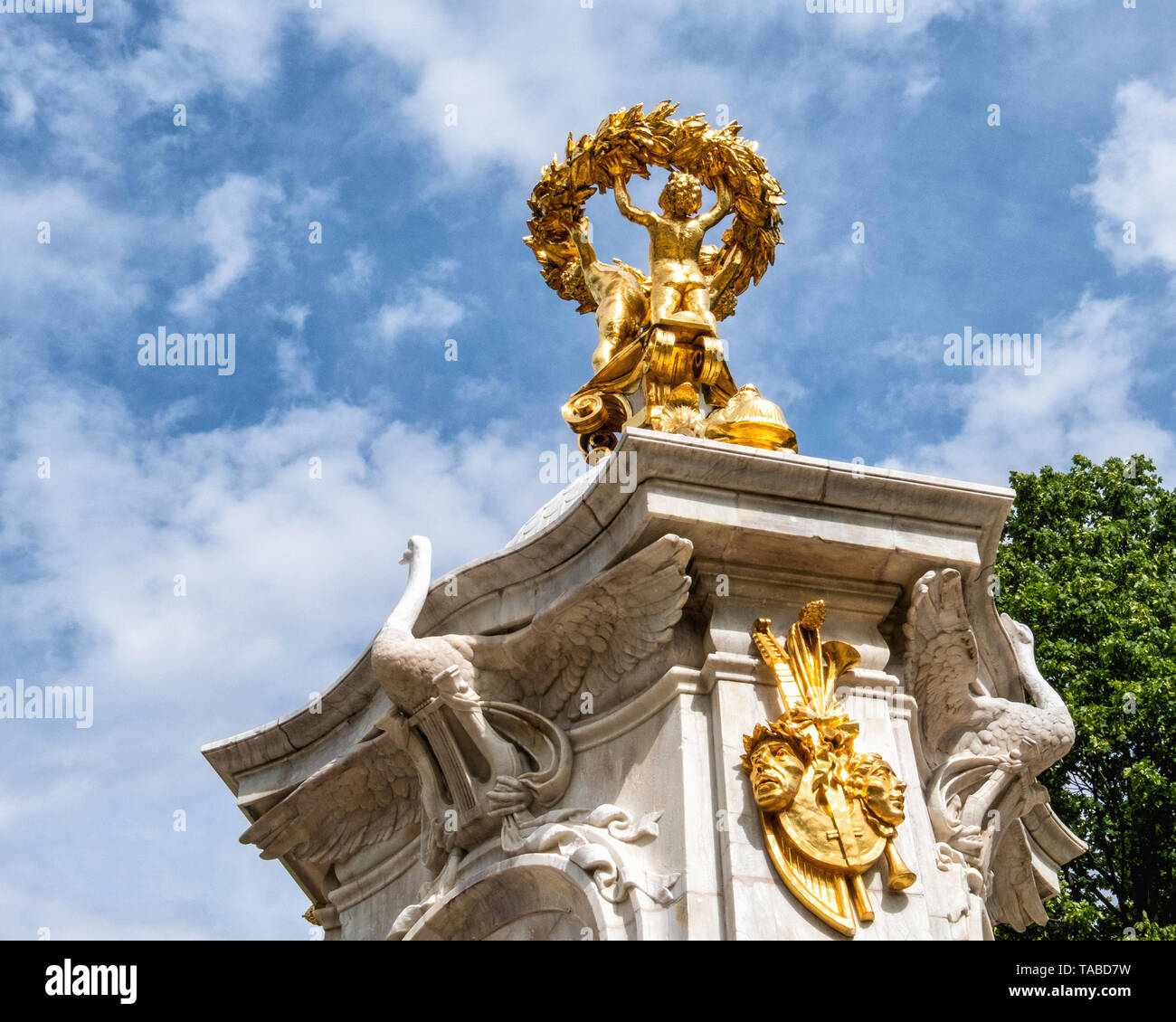 Musicians ,Beethoven Haydn Mozart, memorial by sculptor Rudolf Siemering in The Tiergarten, Berlin - Stock Image