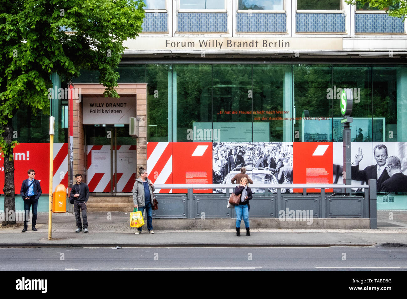 Forum Willy Brandt Berlin Museum exhibition commemorates the life & the political work of the social democrat, statesman & Nobel Peace Prize Laureate Stock Photo