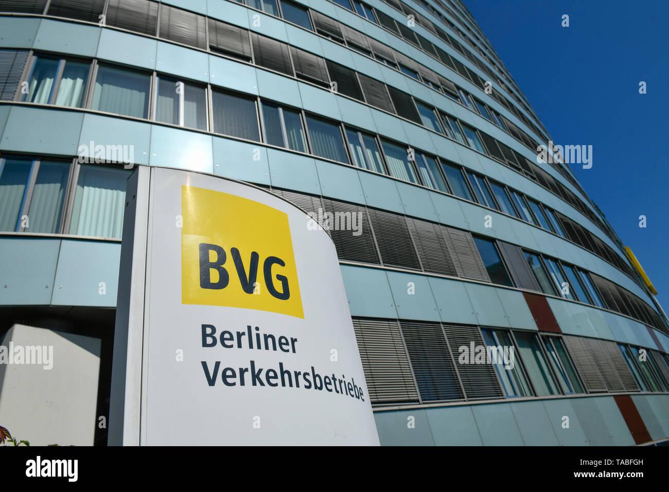 BVG headquarters, Holzmarktstrasse, middle, Berlin, Germany, BVG-Zentrale, Holzmarktstraße, Mitte, Deutschland - Stock Image
