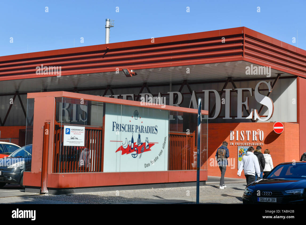Freshness paradise, Morsestrasse, Charlottenburg, Berlin, Germany, Frischeparadies, Morsestraße, Deutschland - Stock Image