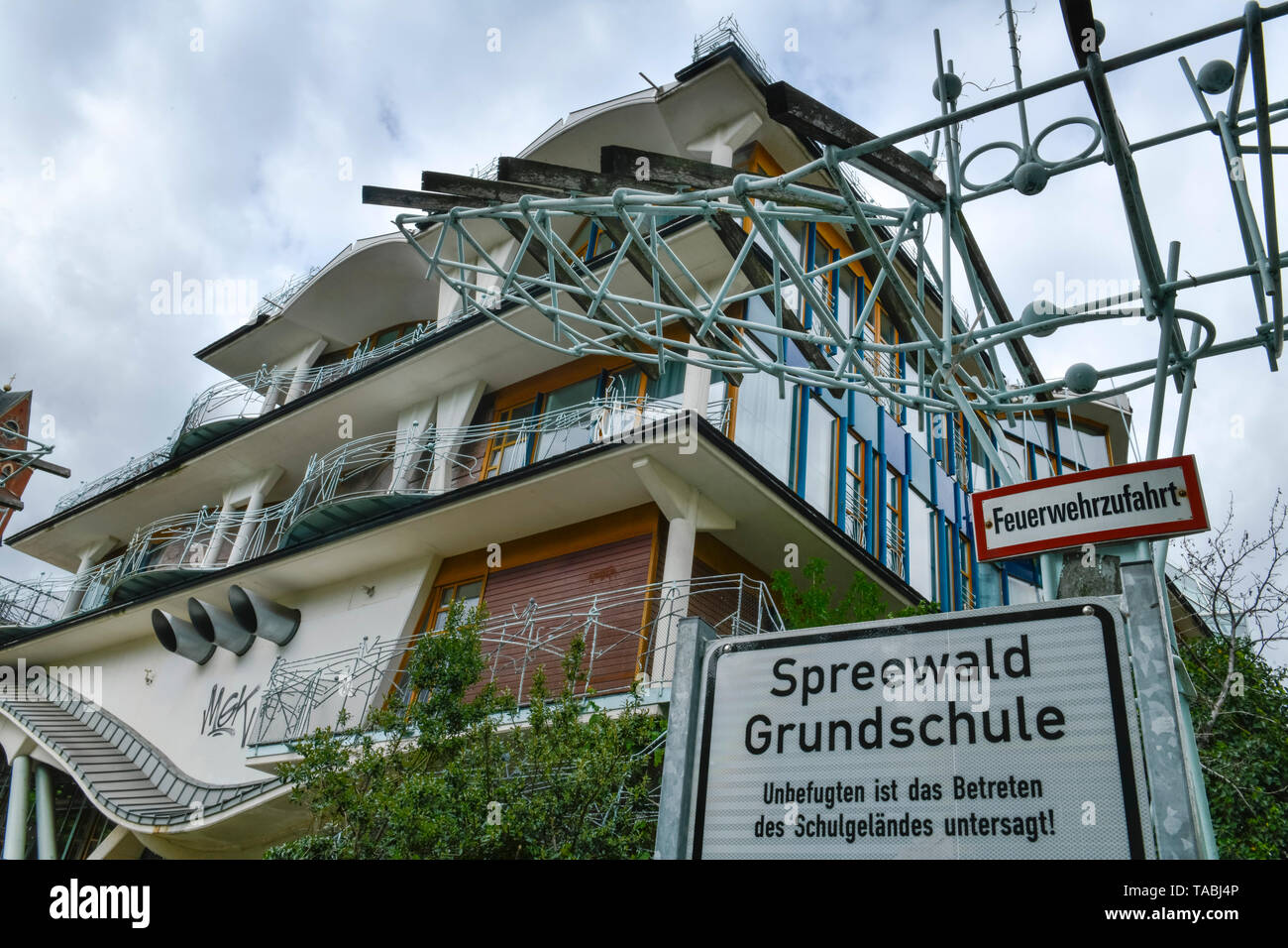 Spreewald elementary school, Pallasstrasse, beauty's mountain, Berlin, Germany, Spreewaldgrundschule, Pallasstraße, Schöneberg, Deutschland Stock Photo