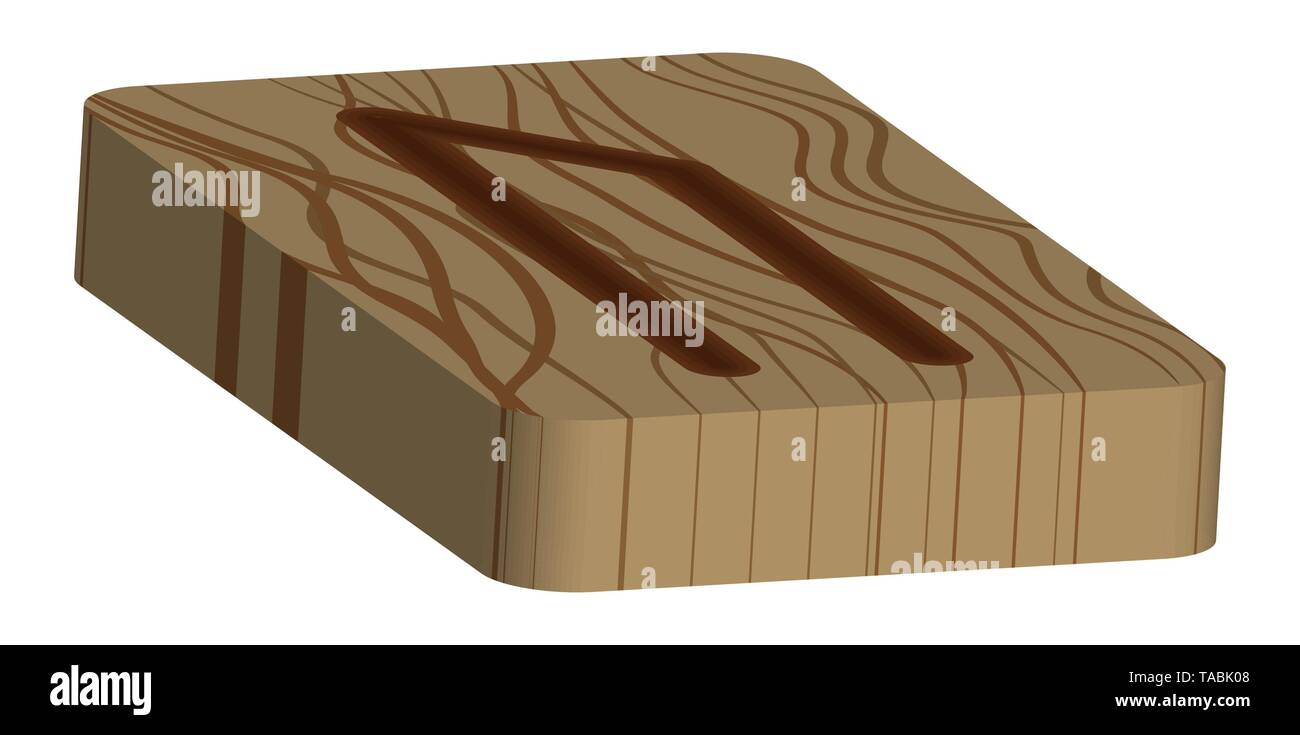 Fleece Uruz. Horizontal projection. Scandinavian. Imitation burning wood. Wood Cut Texture - Stock Vector