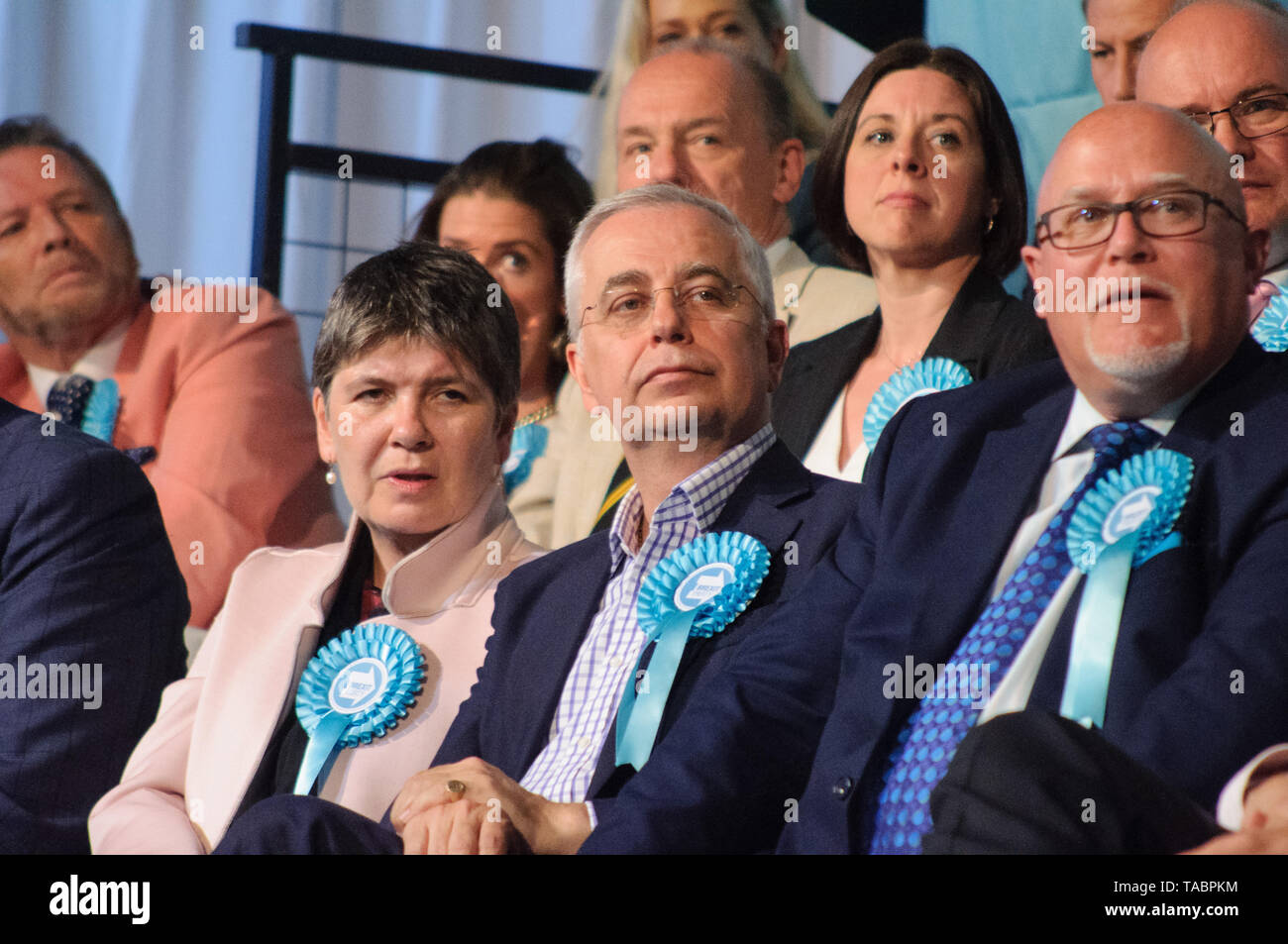 Brexit Party Rally at London Olympia on 21 May 2019 before the European Election Vote on the 23 May - Stock Image