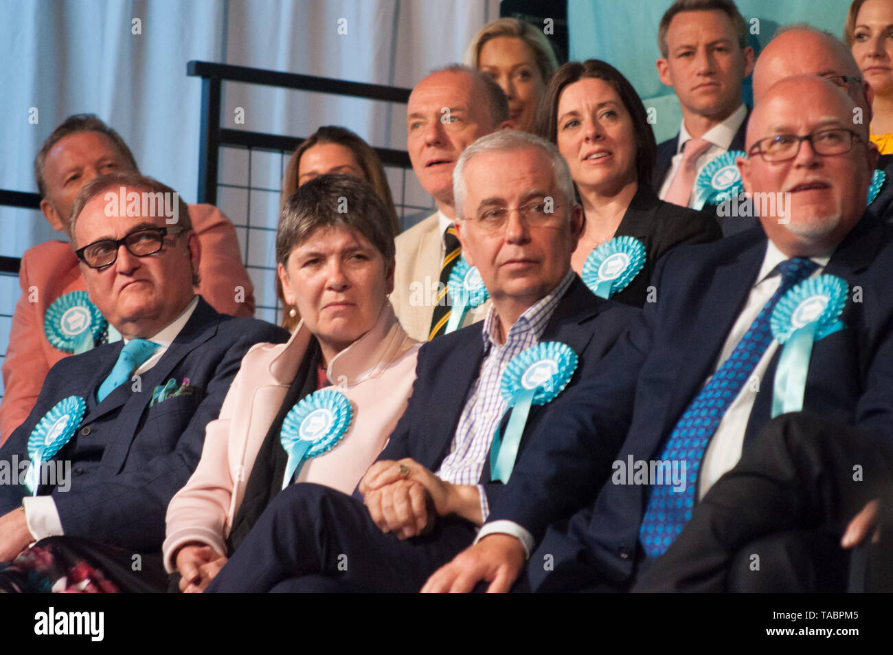 Brexit Party Rally at London Olympia on 21 May 2019 before the European Election Vote on the 23 May Stock Photo