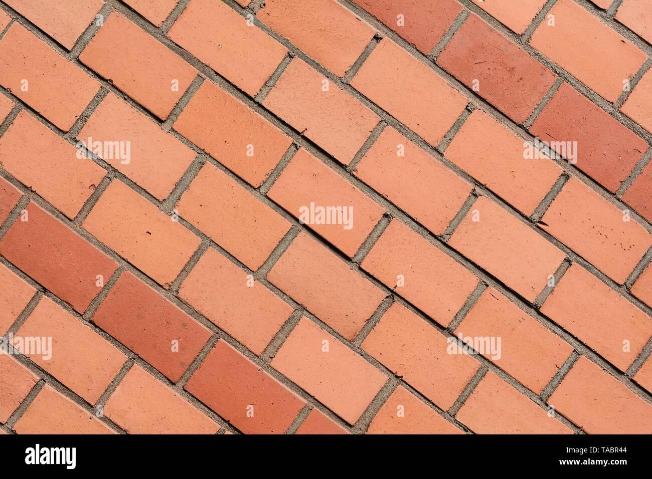 Facade of bricks on a house Stock Photo