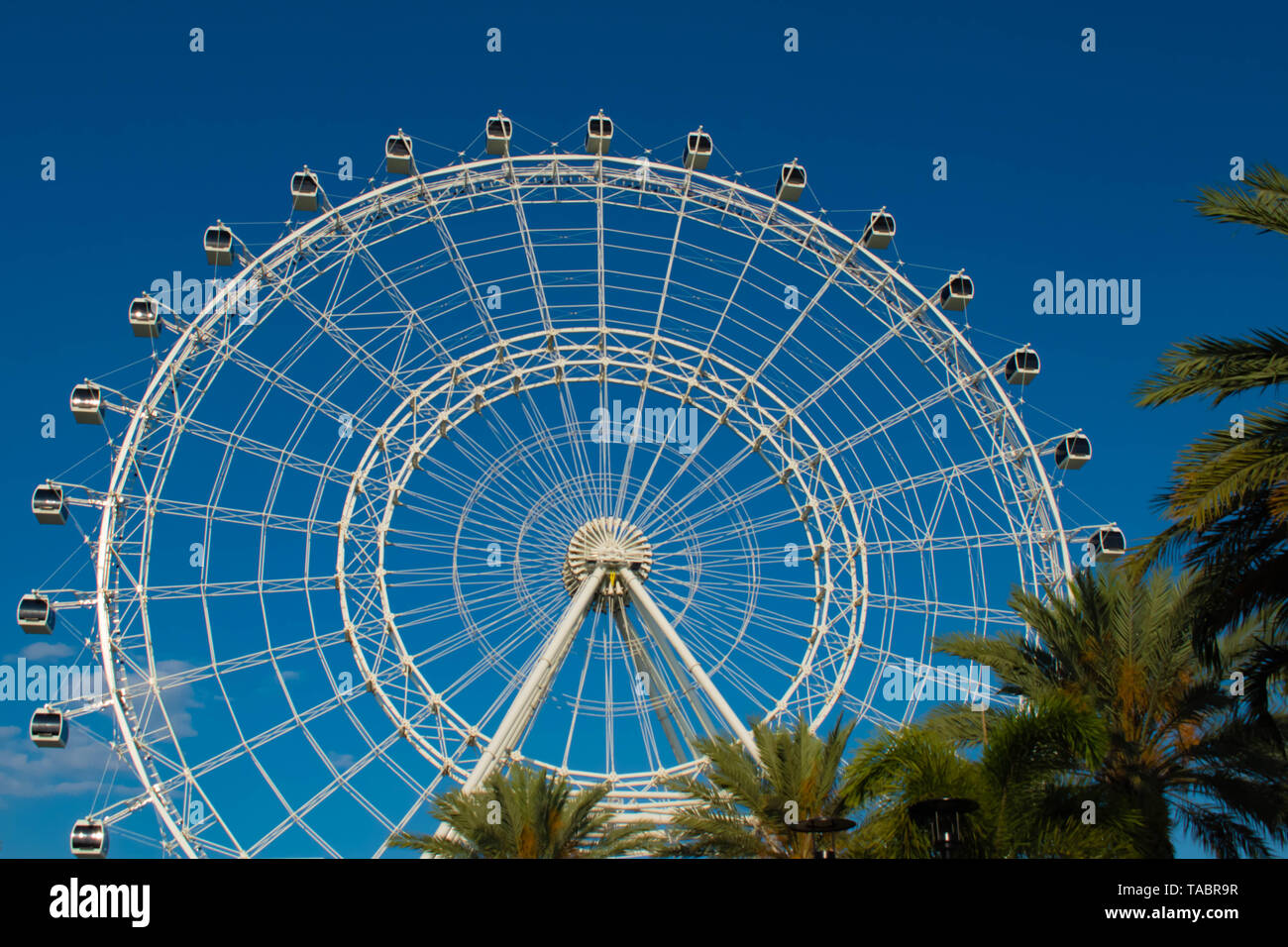 Orlando, Florida. May 16, 2019. Orlando Eye ride experience.The Wheel at ICON Park Orlando is a 400-foot-tall giant observation wheel in International Stock Photo