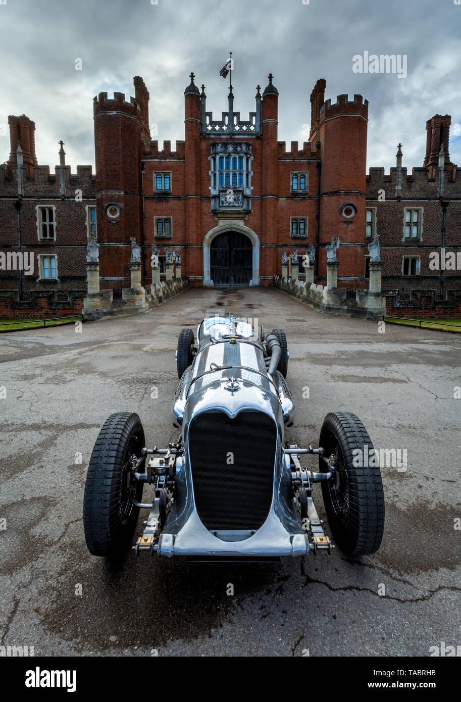 Napier Railton racing car at Hampton Court Palace Stock Photo