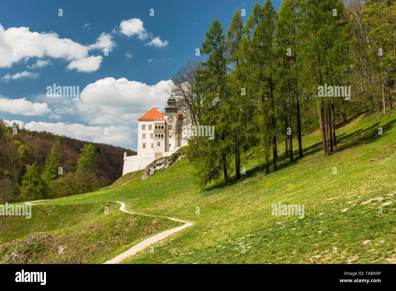 Historic castle Pieskowa Skala in Ojcow National Park near Krakow in Poland Stock Photo