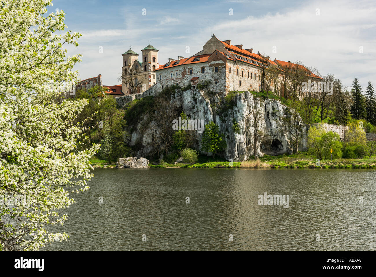 Benedictine abbey, monastery and Saint Peter and Paul church in Tyniec near Krakow, Poland. - Stock Image