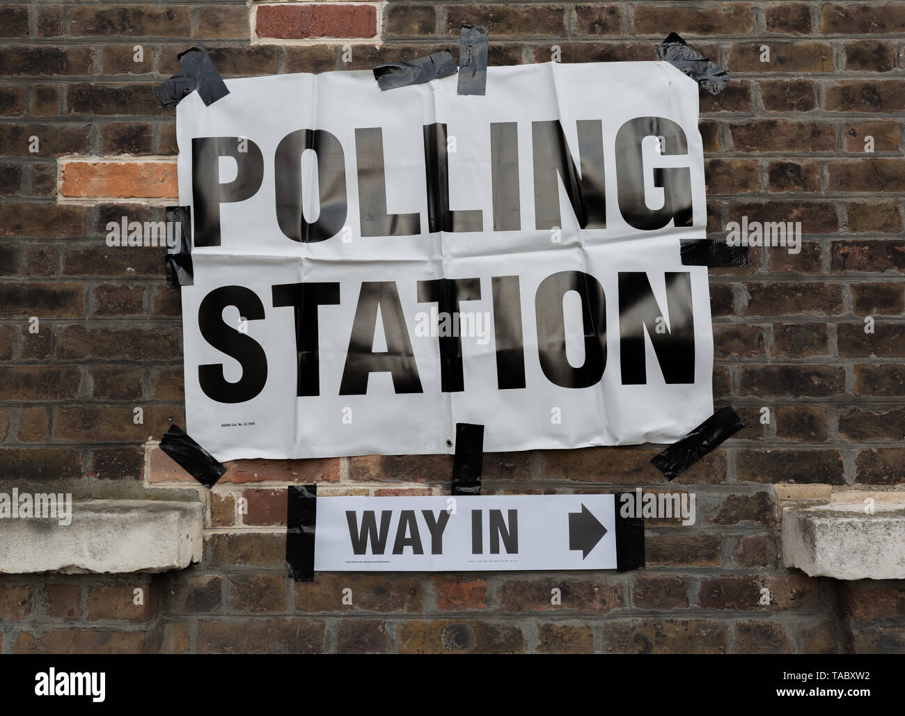 London, UK. 23rd May, 2019. European Election Polling Day in Greenwich, south east London. Credit: Guy Corbishley/Alamy Live News - Stock Image