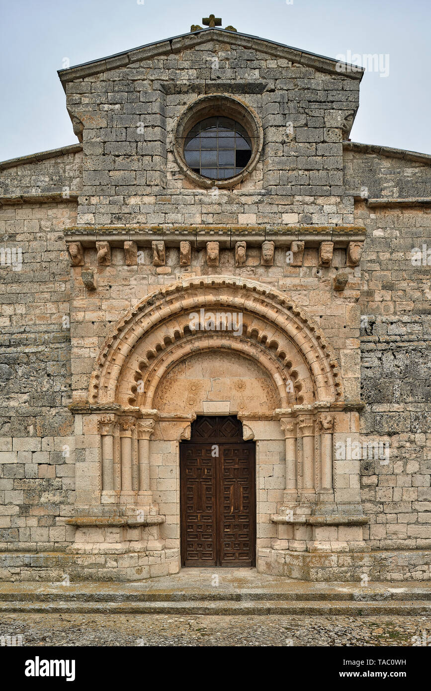 The church of Santa Maria is one of the oldest temples in the Valladolid religion. It is of Visigoth - Mozarabic origin from the 7th to 10th centuries - Stock Image