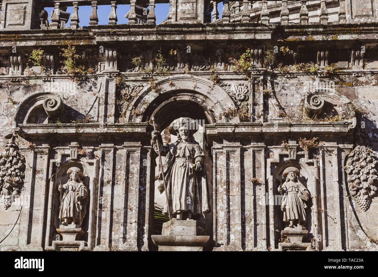 historic architecture Santiago de Compostela Spain - Stock Image