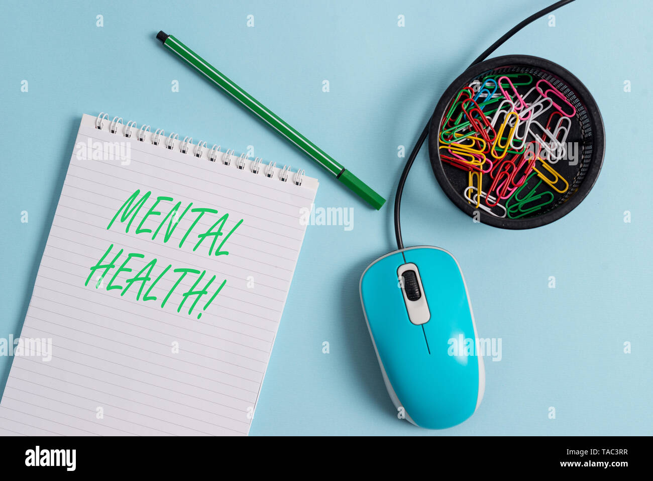 Handwriting text Mental Health. Conceptual photo demonstratings condition regard to their psychological well being - Stock Image