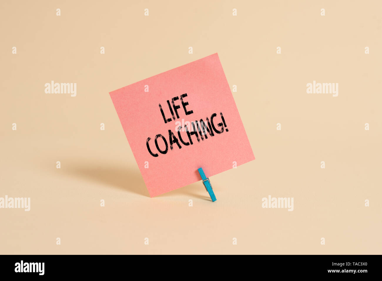 Word writing text Life Coaching. Business photo showcasing demonstrating employed to help showing attain their goals in career - Stock Image
