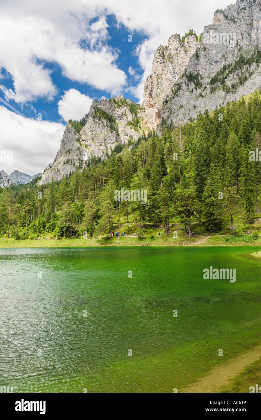 Austria, Styria, Tragoess, Green Lake - Stock Image