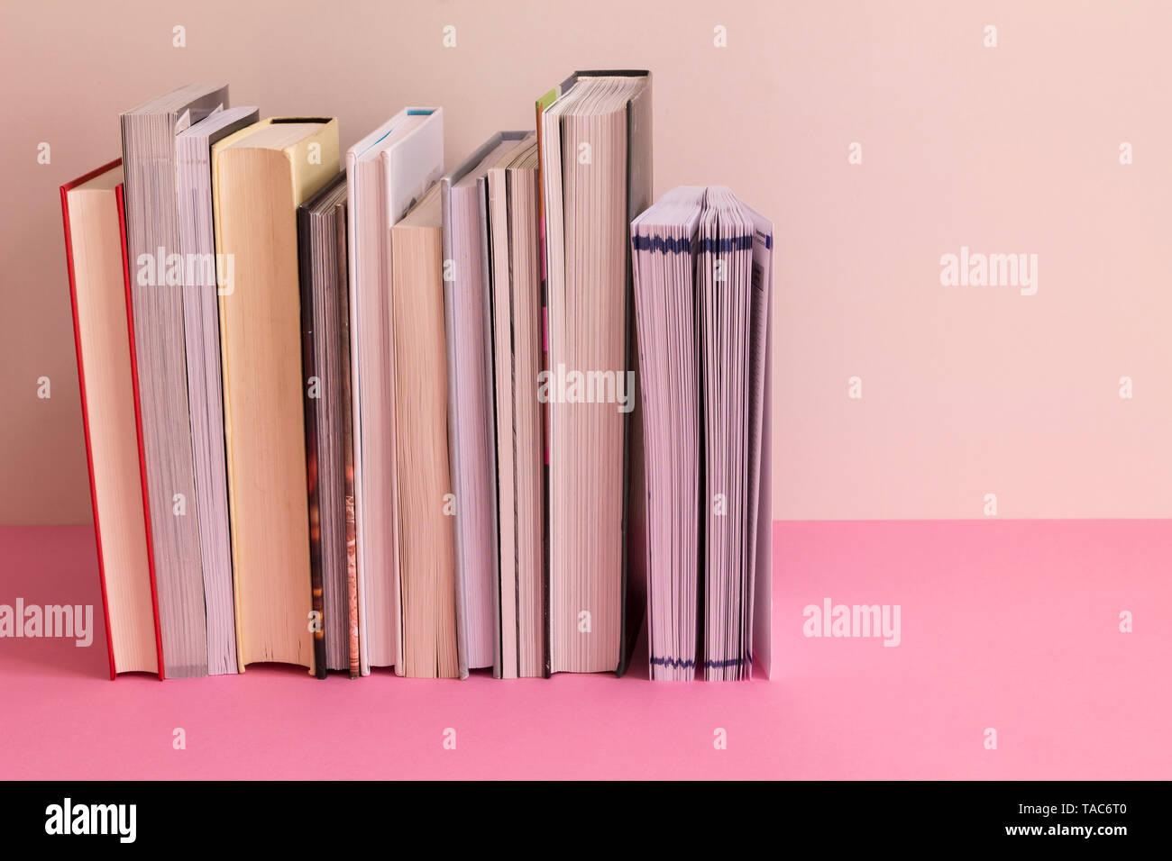 Row of books - Stock Image