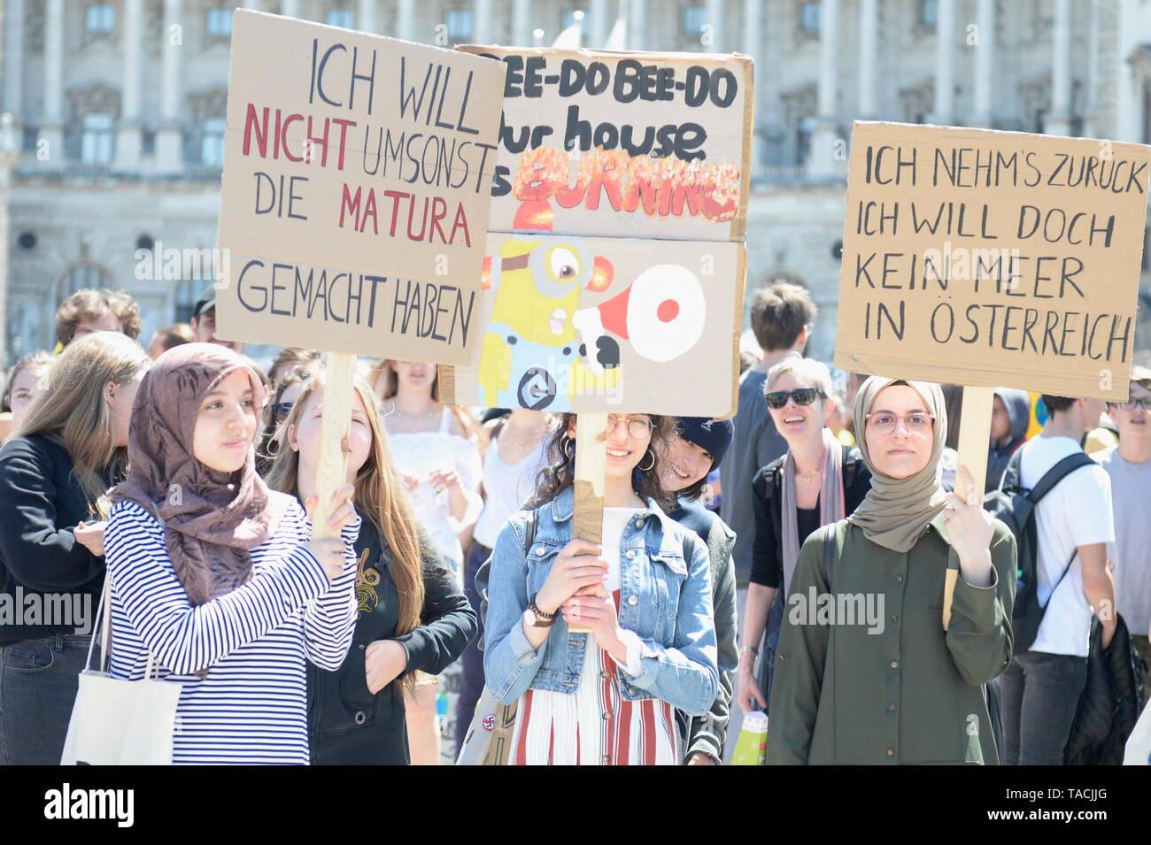 Vienna Austria 24th May 2019 Fridaysforfuture 2nd Major