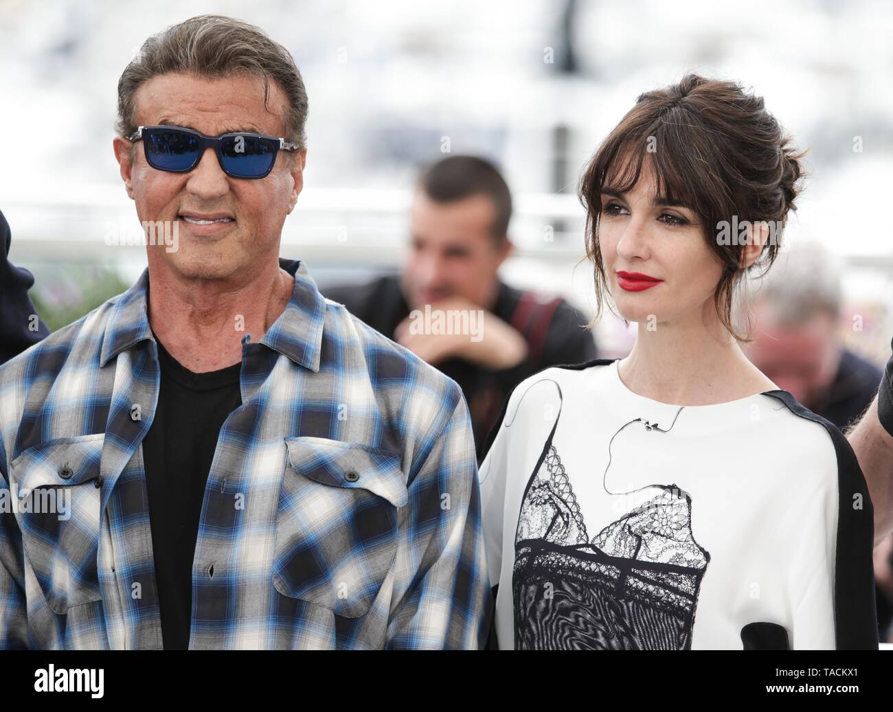 Cannes, France. 24th May, 2019. Paz Vega, Sylvester Stallone,2019 Cannes - Stock Image