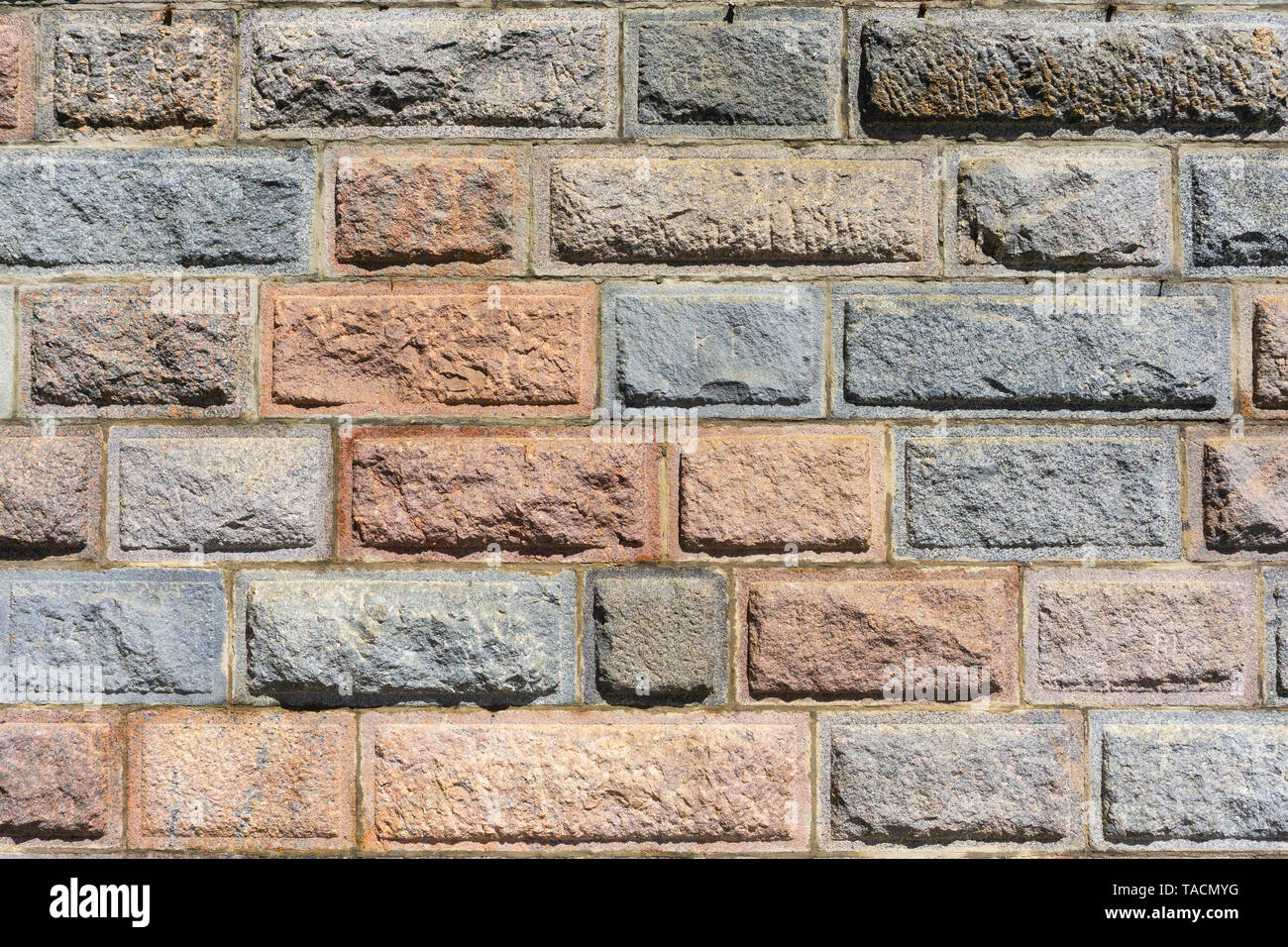 Wall Of Decorative Stone Masonry The Texture And Design Of