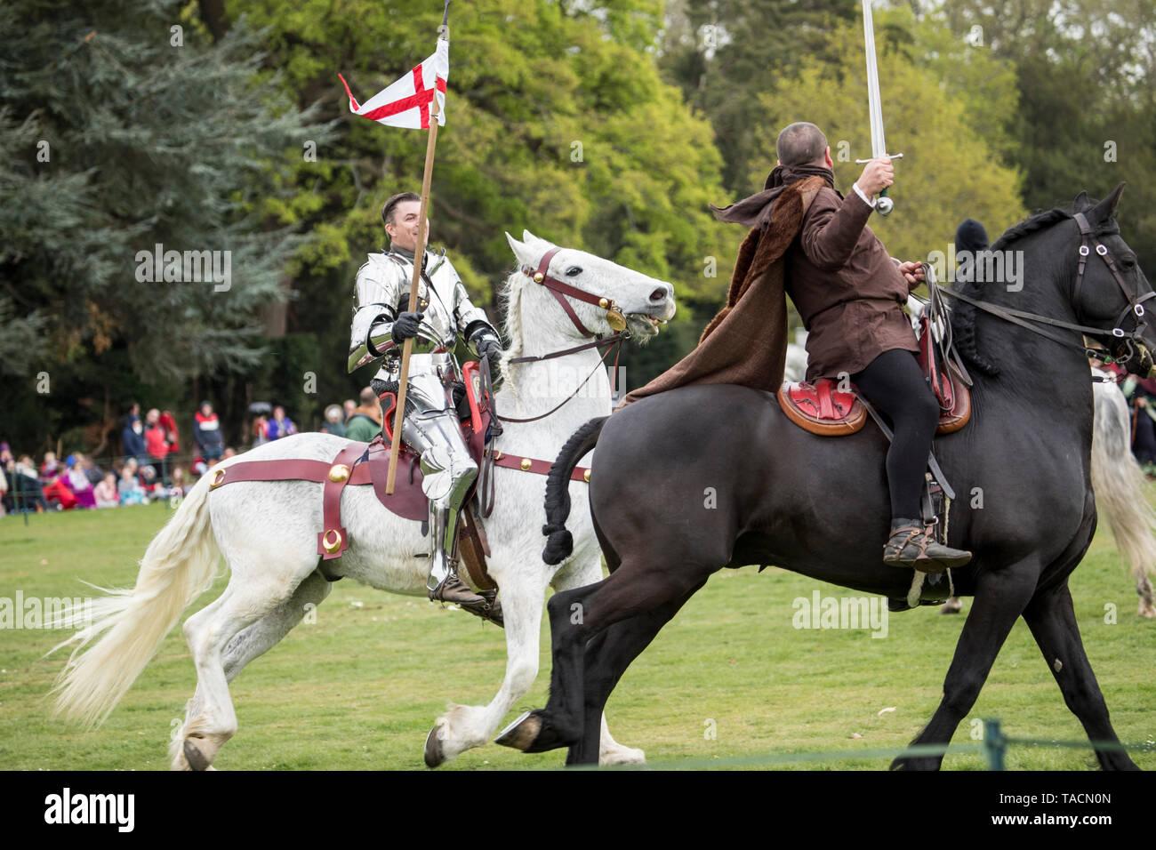 St George's festival  at Wrest Park, Silsoe, Bedfordshire, England - Stock Image