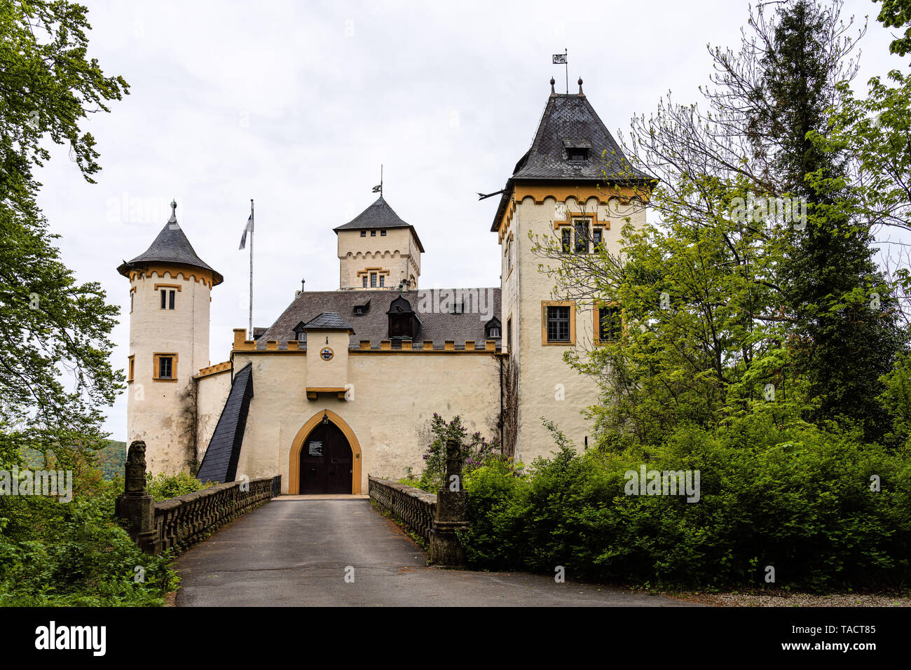 Schloss Greifenstein is a castle in Bavaria, Germany. - Stock Image