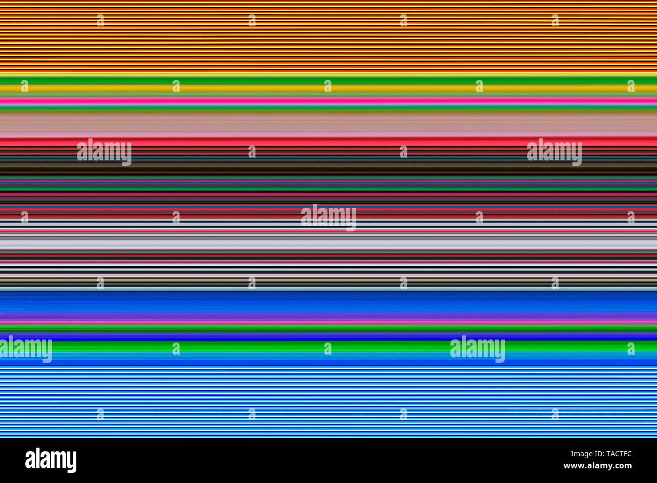 Modern fine art computer digital paintings creative hypnotist imagination colourful line vhm 3/4/2015. - Stock Image