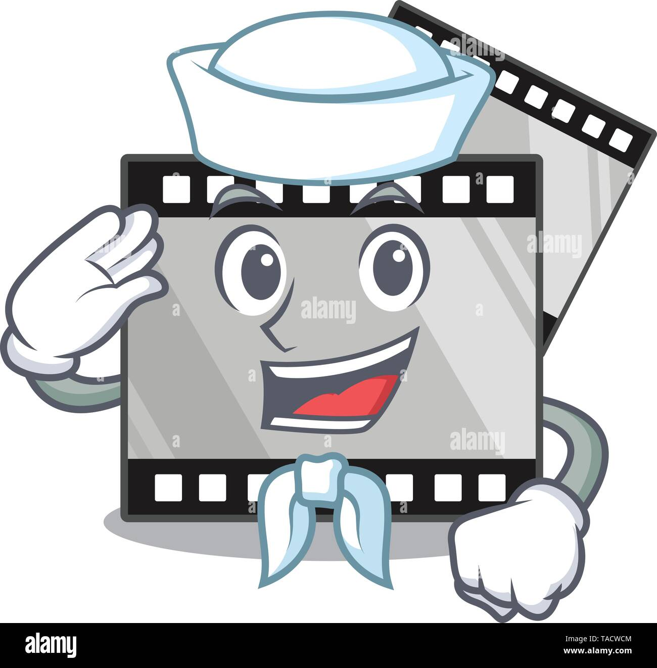 Sailor film stirep isolated in the mascot - Stock Image