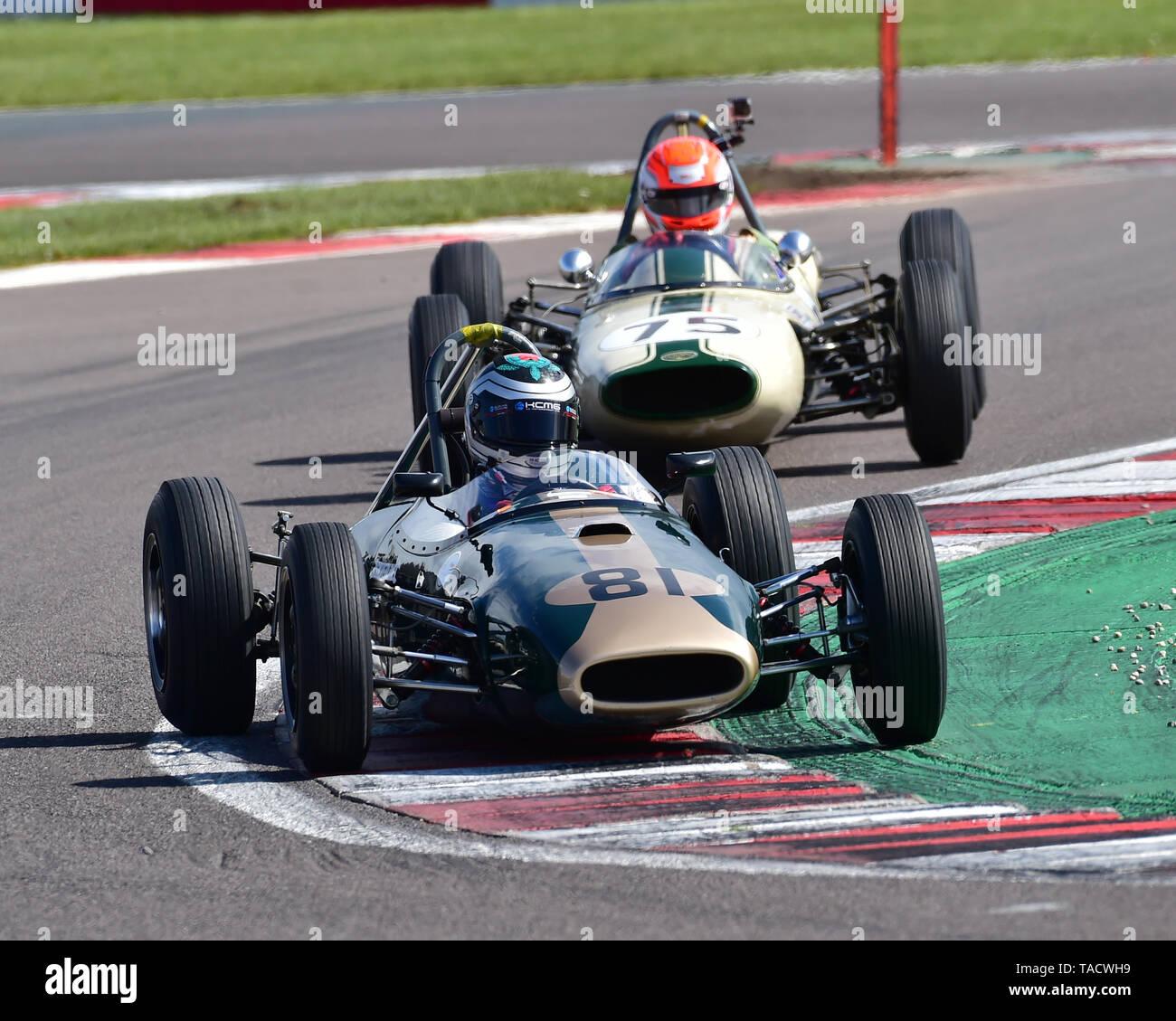 Richard Bradley, Brabham BT2, FJHRA, HSCC, FJ Championship Rear Engined Grid, Formula Junior Historic Racing Association, Historic Sports Car Club, HS - Stock Image