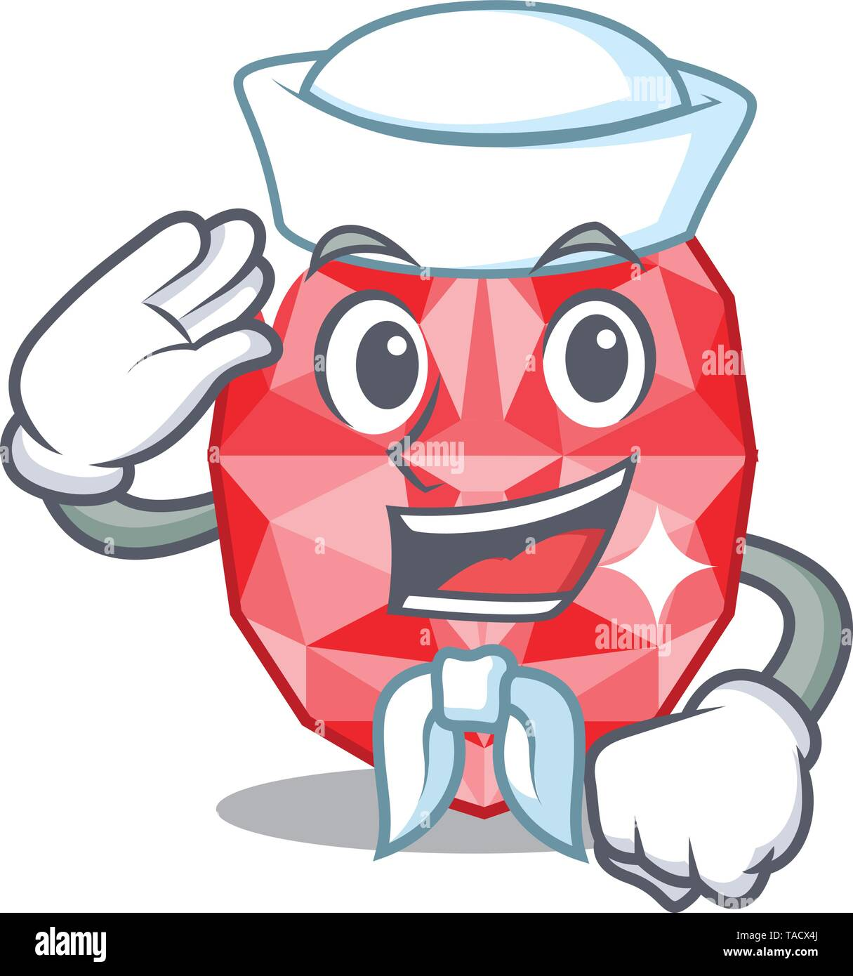 Sailor ruby gems in a cartoon box - Stock Image