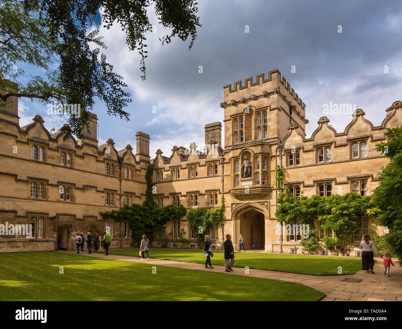 Radcliffe Quad, University College, Oxford, UK Stock Photo