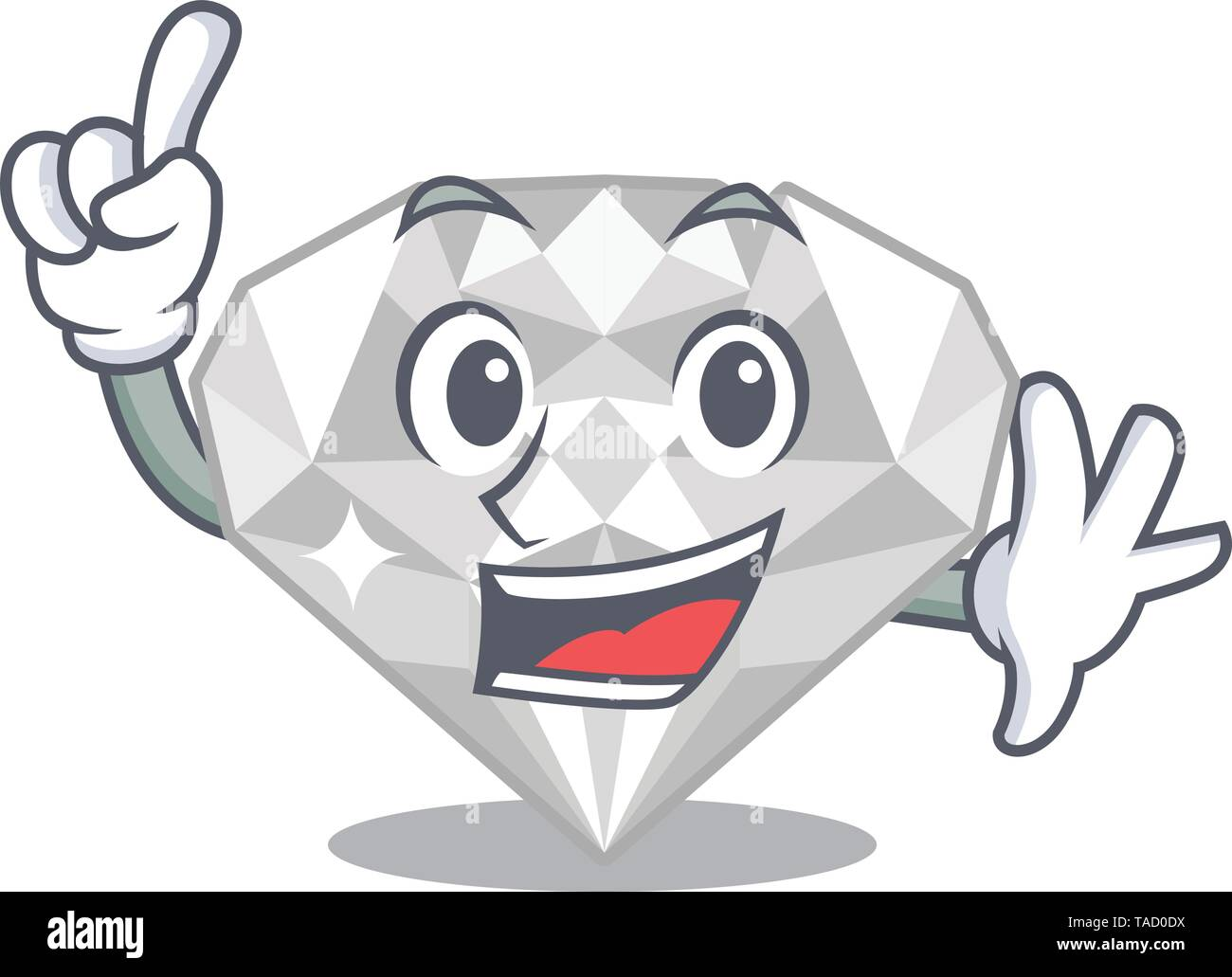 Finger white diamond in the character box - Stock Image