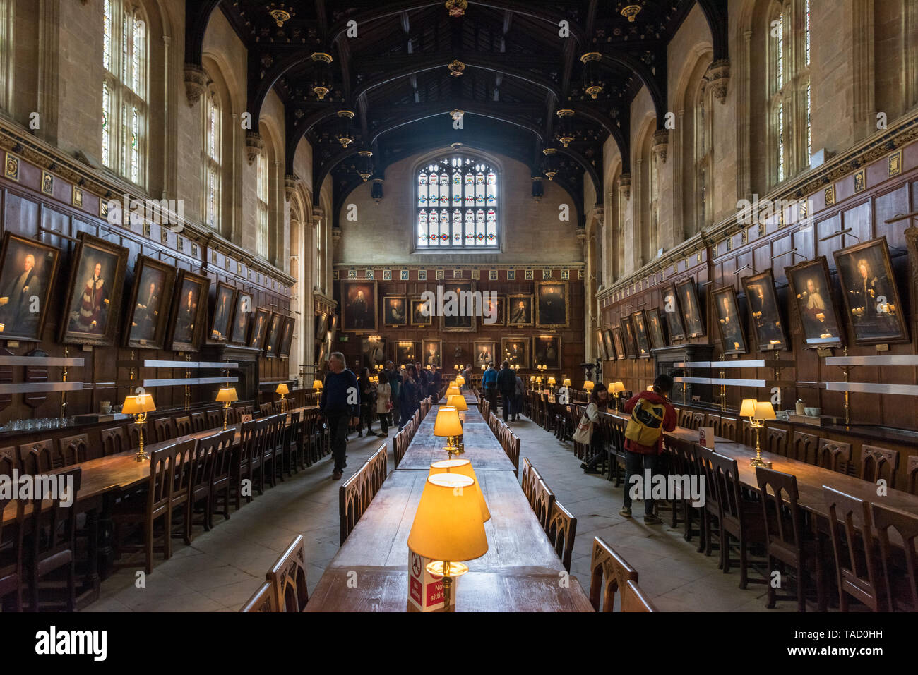 Great Hall, Christ Church, Oxford University, UK Stock Photo