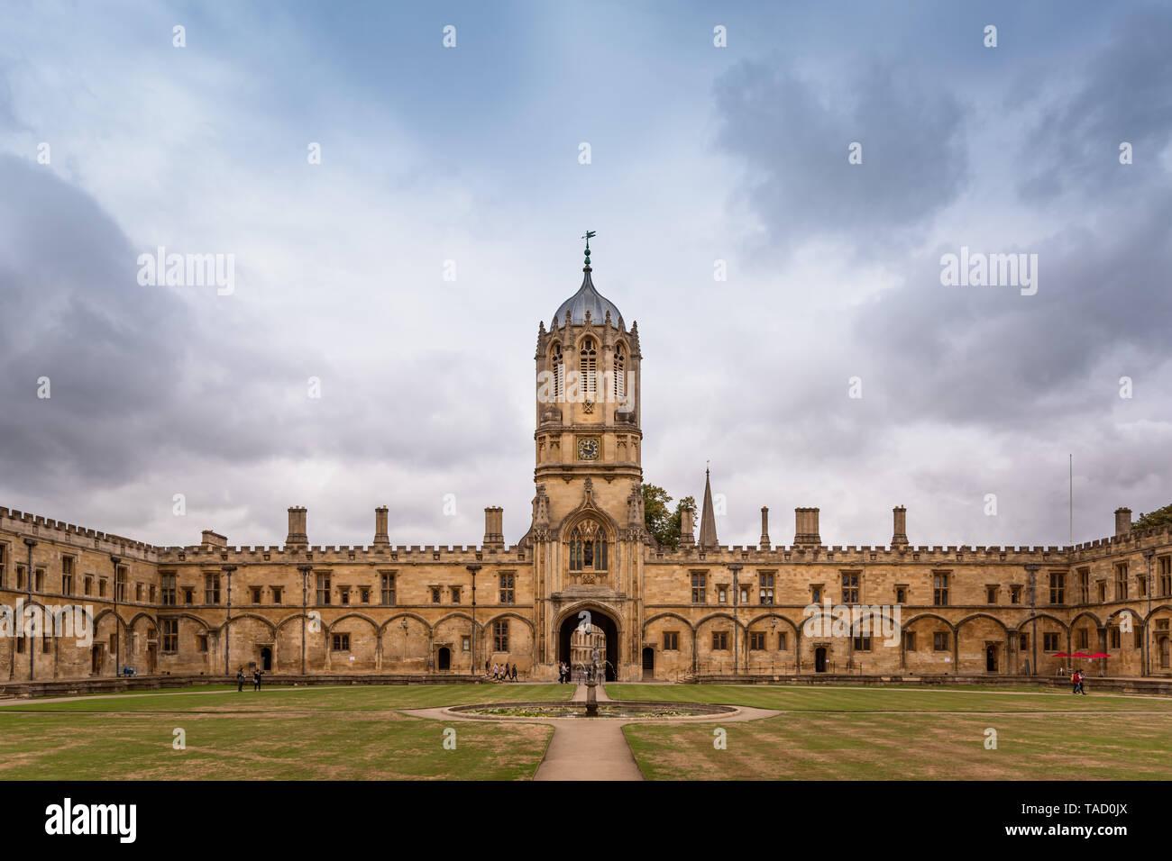 Tom Tower, Christ Church, Oxford University, UK - Stock Image