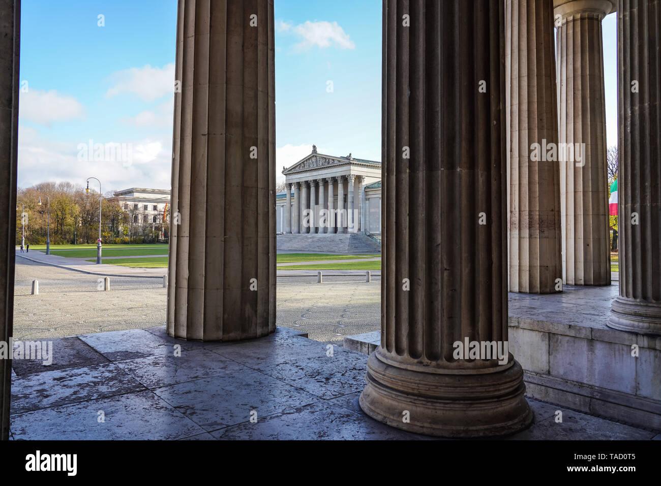 The Konigsplatz - Kings Square, state capital Munich - Bavaria - Munich, Germany - Stock Image