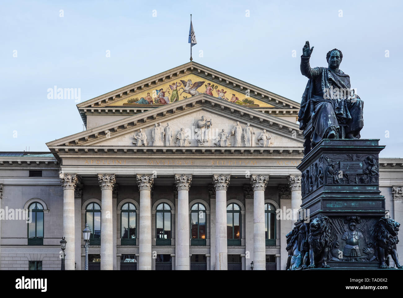 The National Theatre of Munich - Residenztheater at Max-Joseph-Platz Square in Munich, Germany - Stock Image