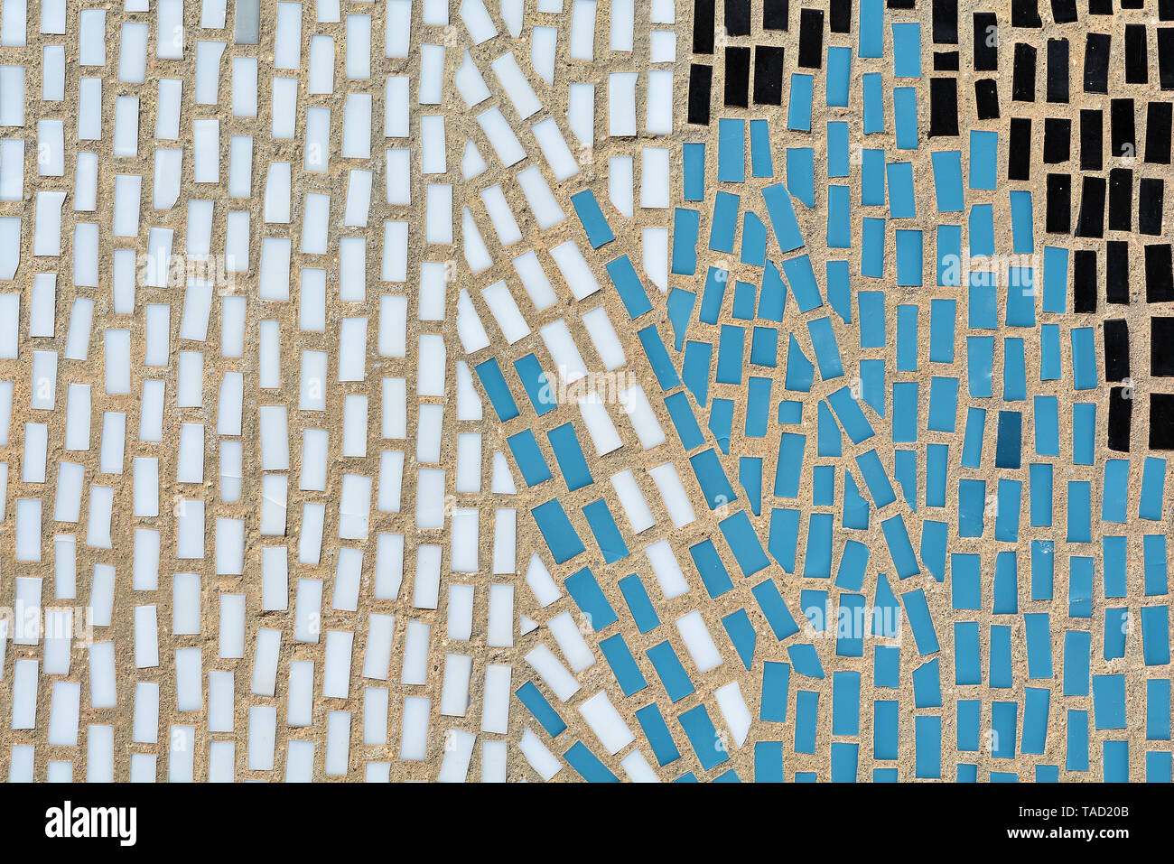 Detail of a mosaic on a house wall in Potsdam - Stock Image