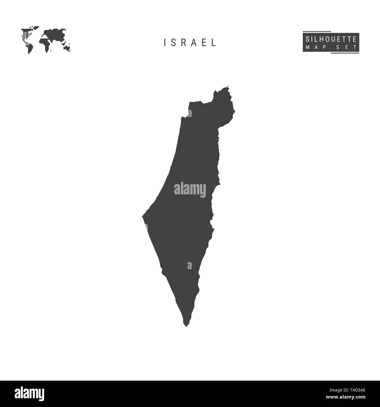 Picture of: Israel Blank Map Isolated On White Background High Detailed Black Silhouette Map Of Israel Stock Photo Alamy