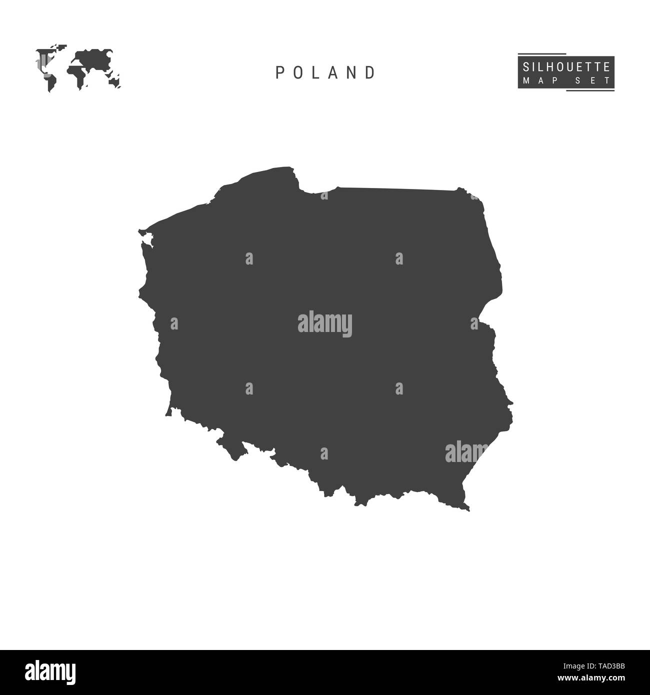 Picture of: Poland Blank Map Isolated On White Background High Detailed Black Silhouette Map Of Poland Stock Photo Alamy