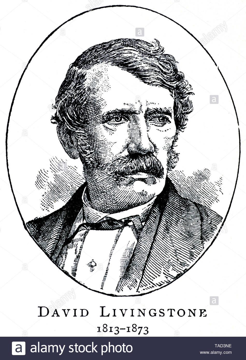 David Livingstone 1813 –1873, Scottish medical missionary and explorer of  the African continent - Stock Image