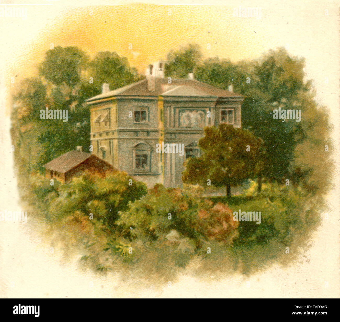 Wahnfried House by Richard Wagner in Bayreuth ,  (, ) Stock Photo
