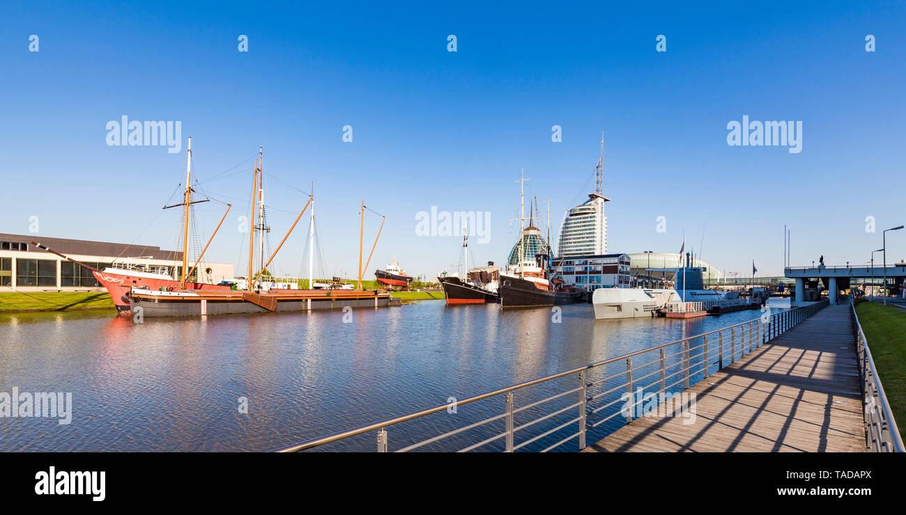 Germany, Bremen, Bremerhaven, Old Harbour, Havenwelten, German Maritime Museum, museum ships Stock Photo
