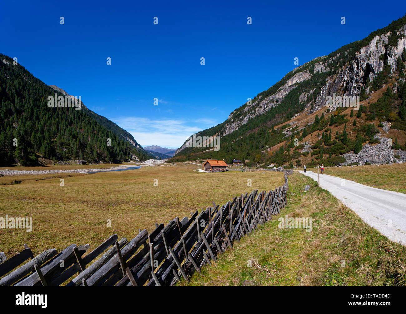 Austria, Salzburg State, High Tauern National Park, trail at Krimmler Ache Stock Photo