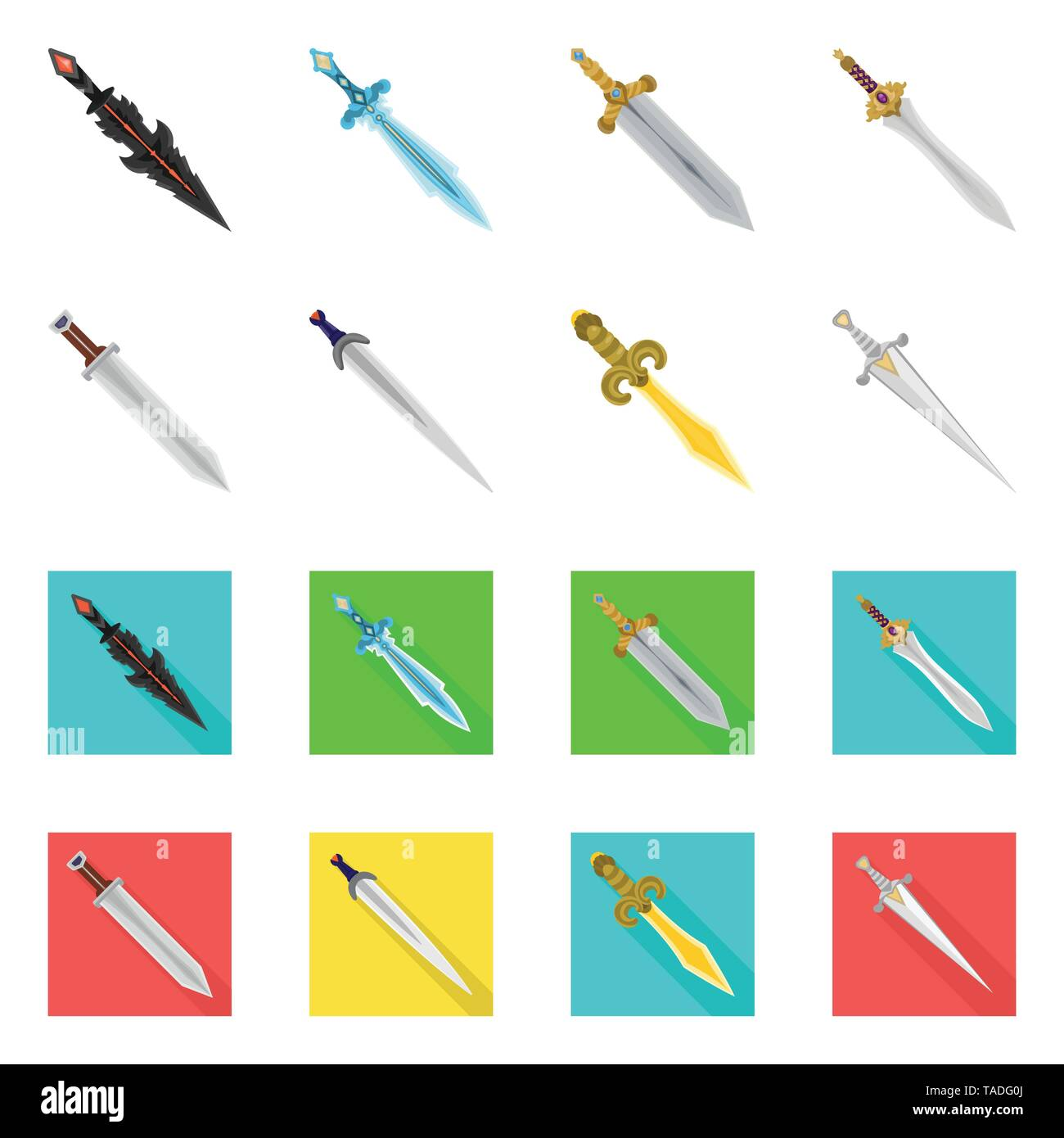Isolated object of game  and armor  sign. Collection of game  and blade  vector icon for stock. - Stock Image