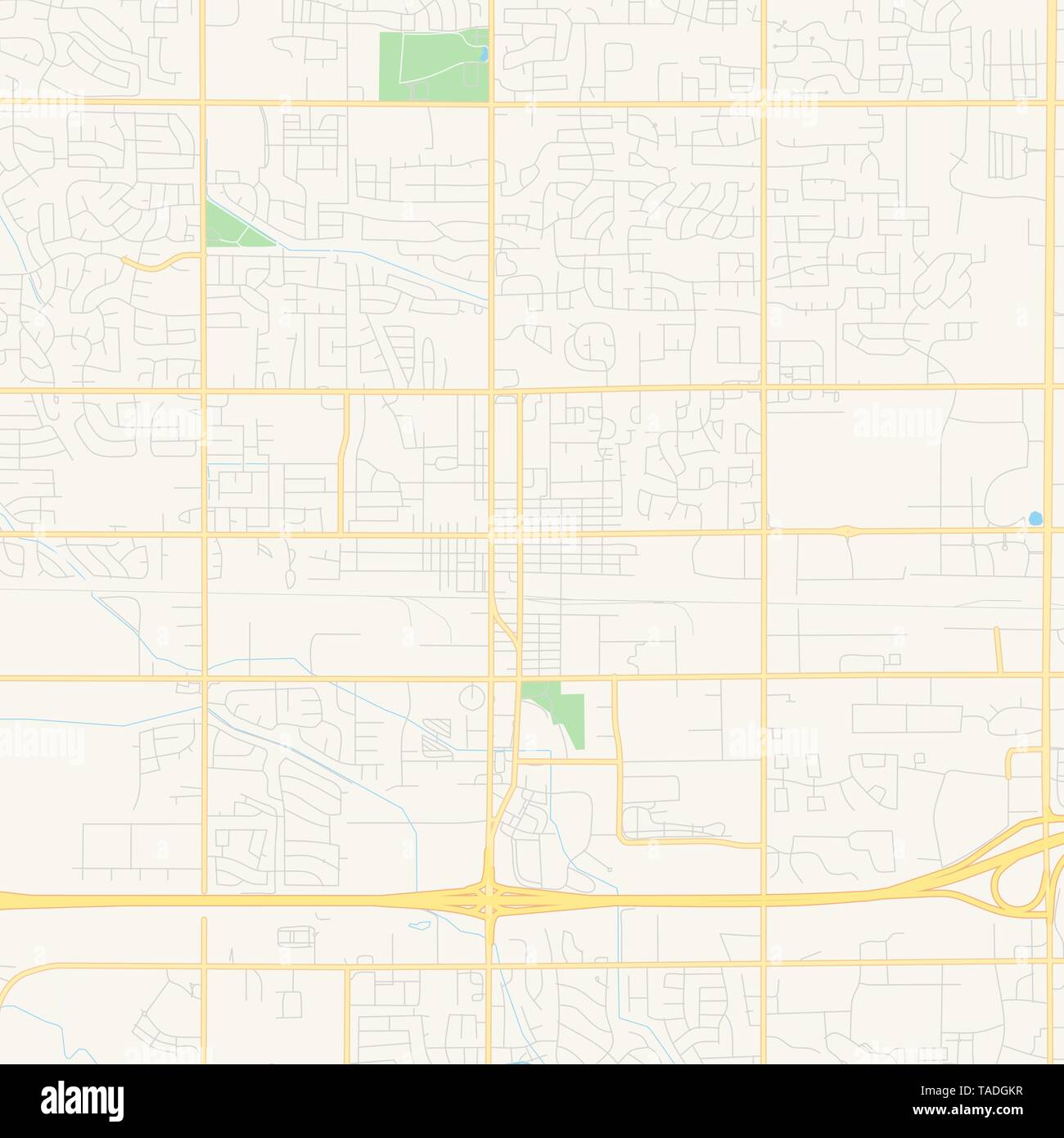 Empty vector map of Meridian, Idaho, USA, printable road map created in classic web colors for infographic backgrounds. - Stock Vector