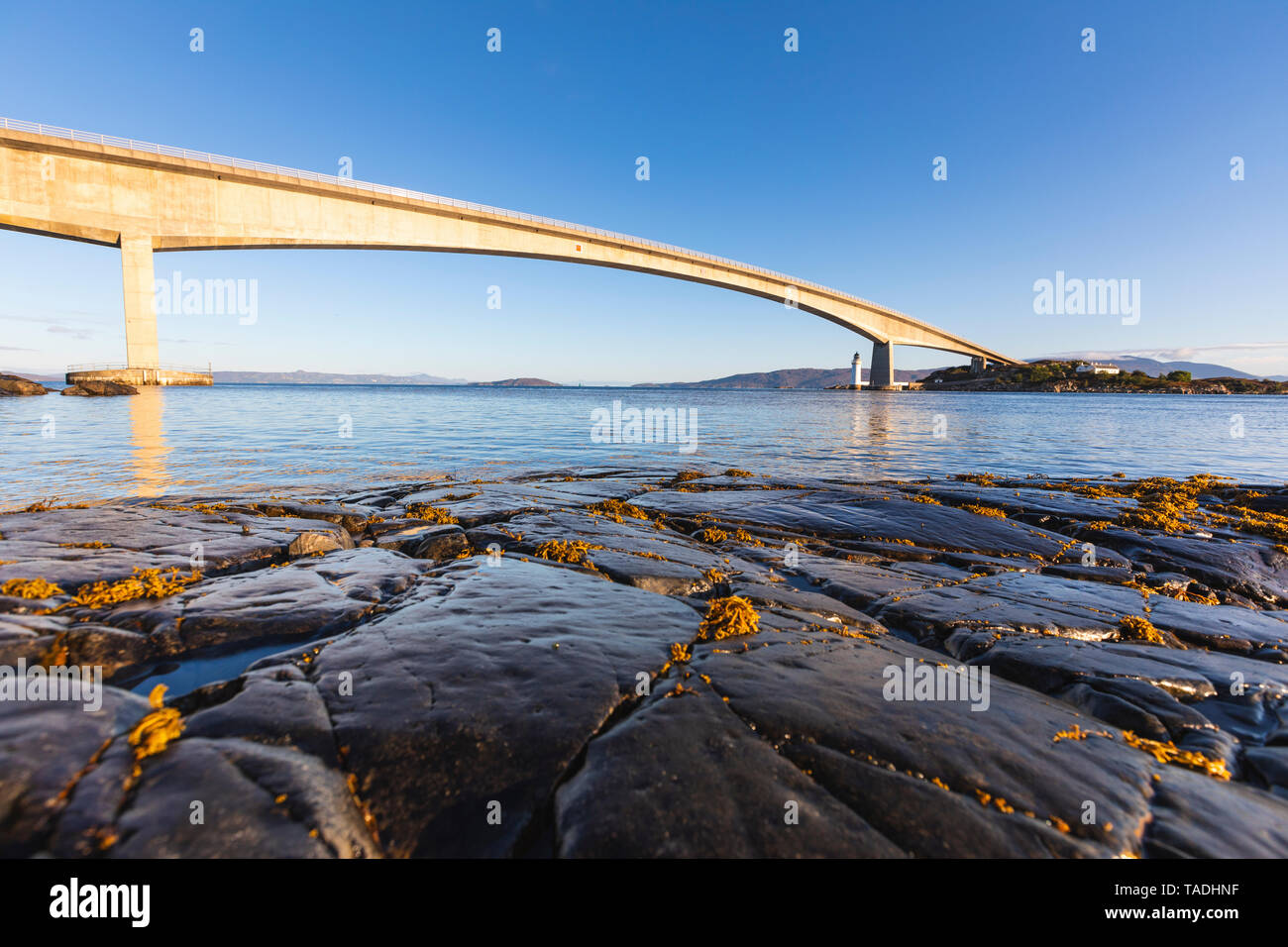 United Kingdom, Scotland, Skye Bridge view in the early morning Stock Photo