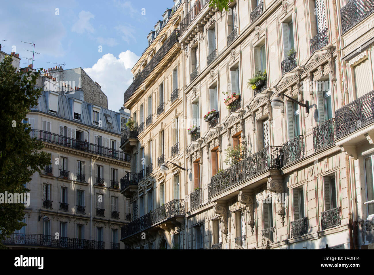"Paris: street 'rue Pierre Semard"" street in the 9th arrondissement (district) *** Local Caption *** - Stock Image"
