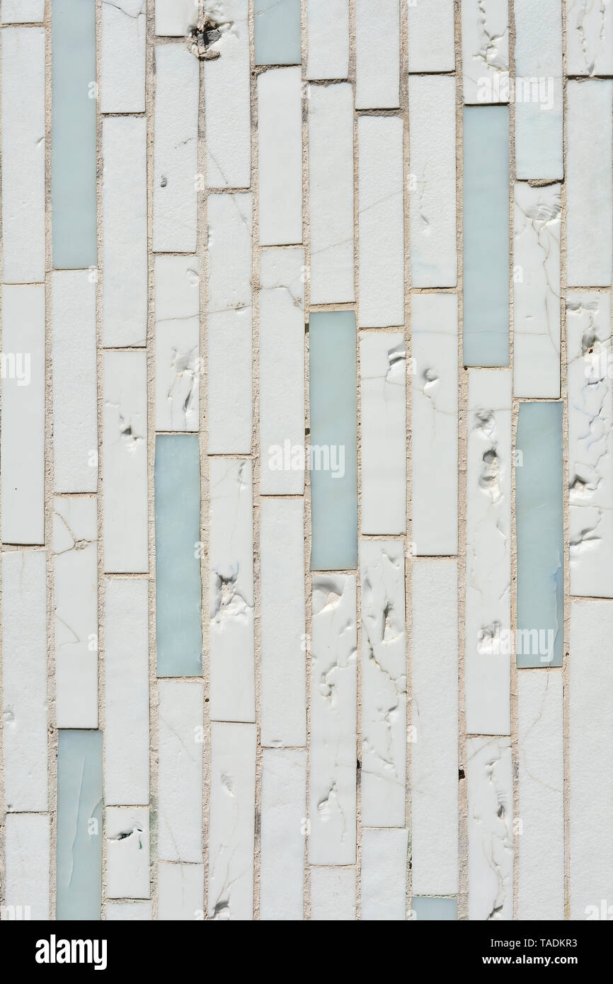 Mosaic stones on a facade in Berlin - Stock Image