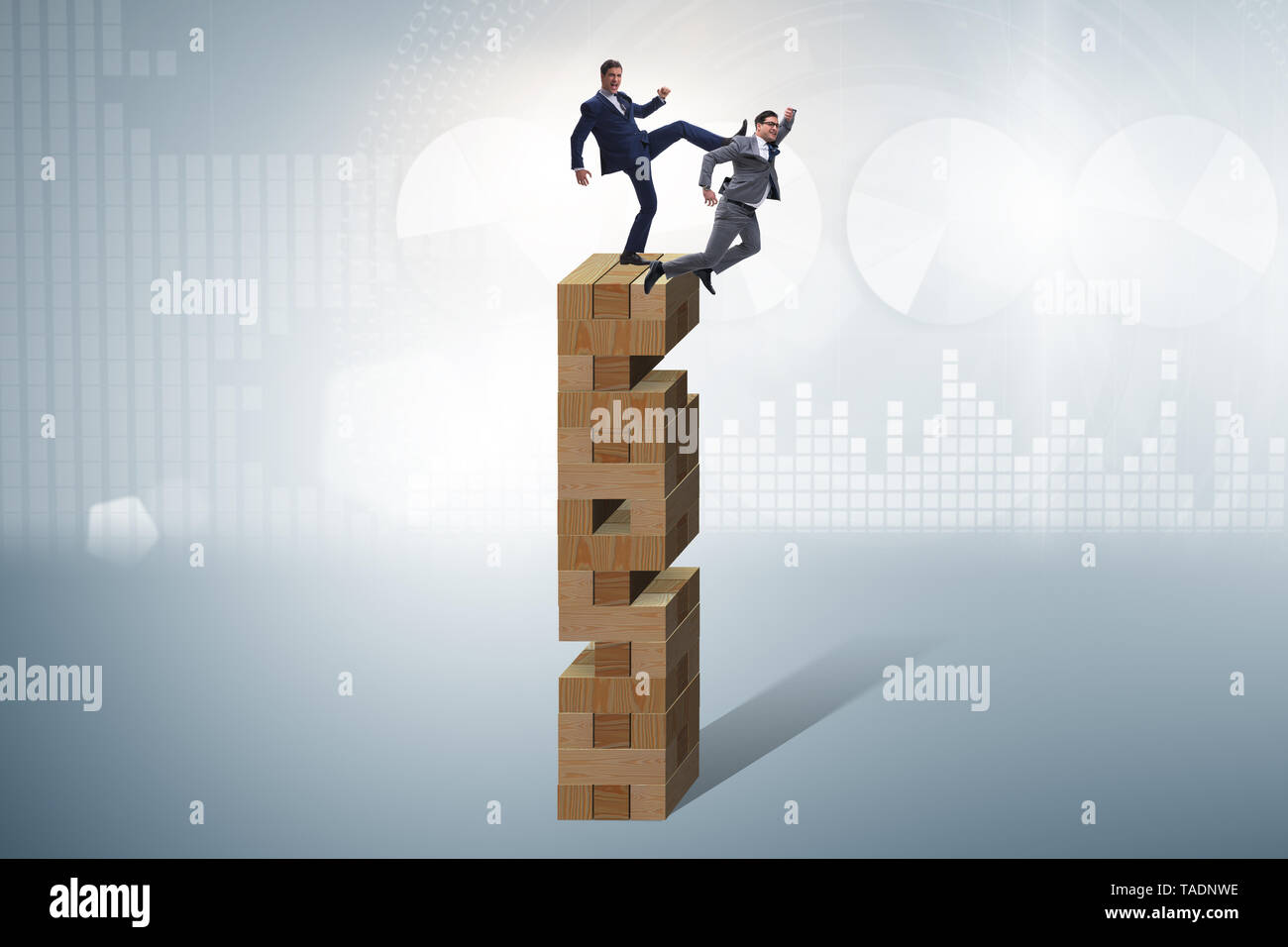 Business competition concept with two businessmen - Stock Image