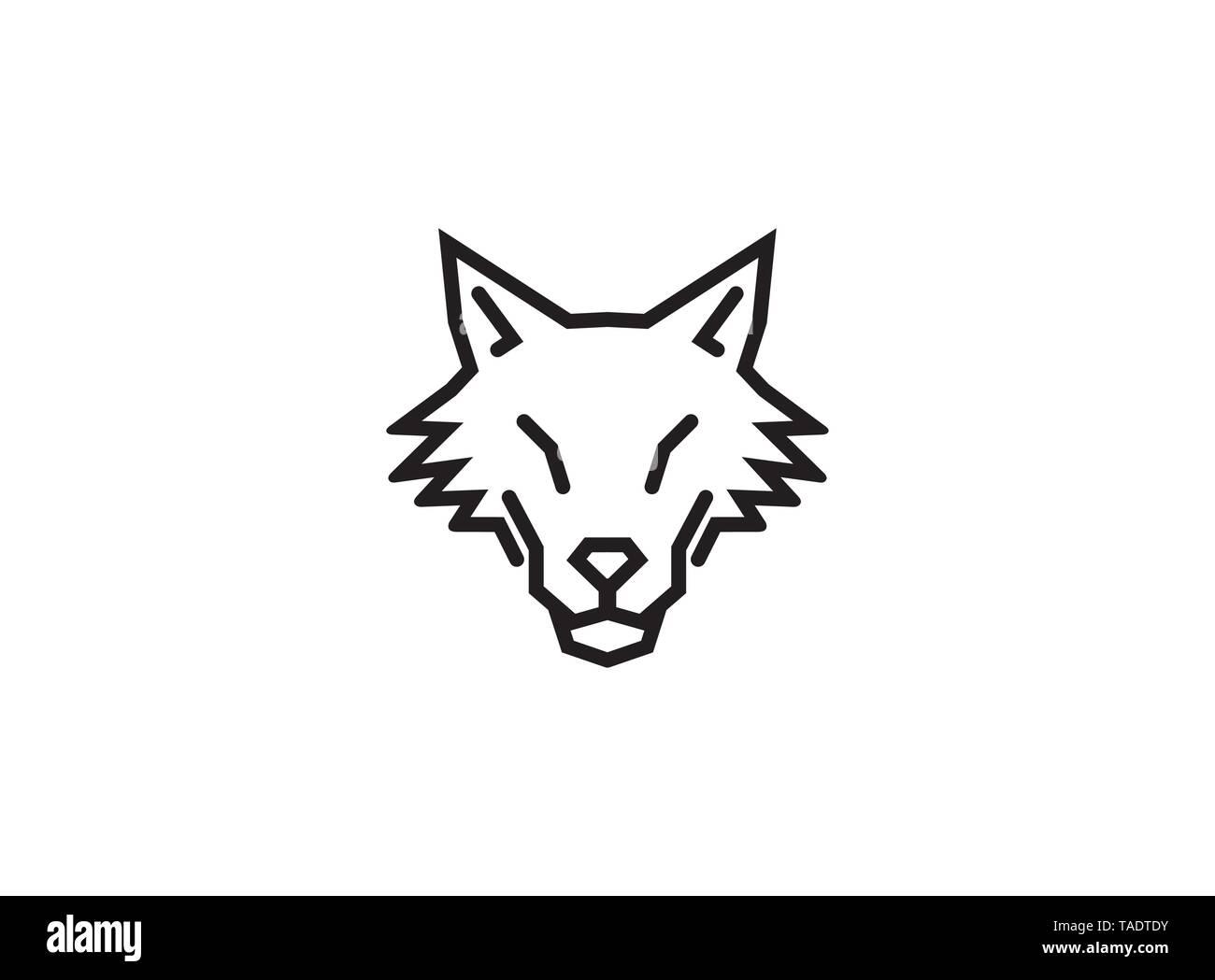 Creative Abstract Wolf Logo Vector Design Illustration Stock