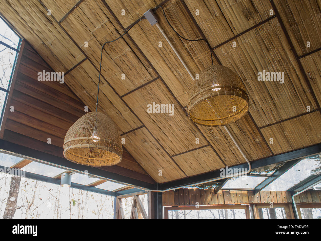 Coop And Lamp On Ceiling For Interior Design Room Interior Design Room In Country Loft Style Interior Design Room In Part Of Living Room Stock Photo Alamy